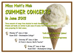 summer 2013 concert poster